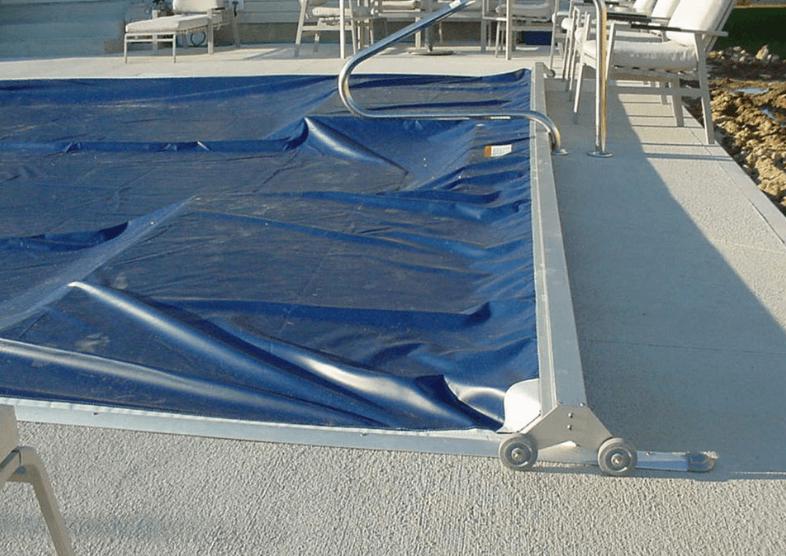 Plexiglass Pool Cover Platform Pool Decking Beverly Hills