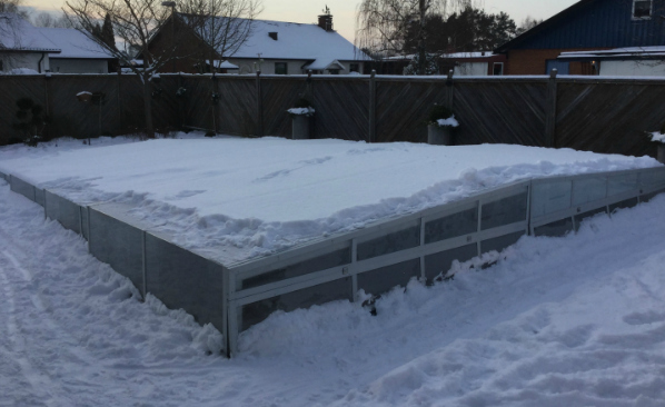 winter cover made of polycarbonate sheet
