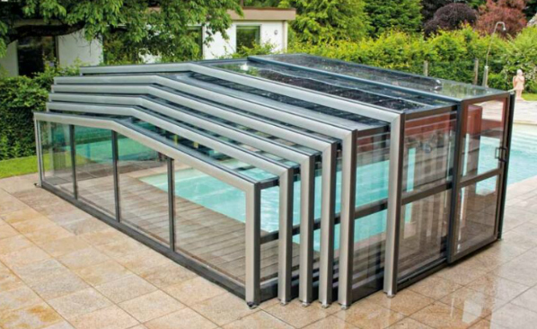 polycarbonate swimming pool enclosure